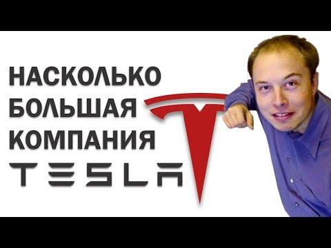 Насколько большая компания Tesla (Самый дорогой автопроизводитель США)
