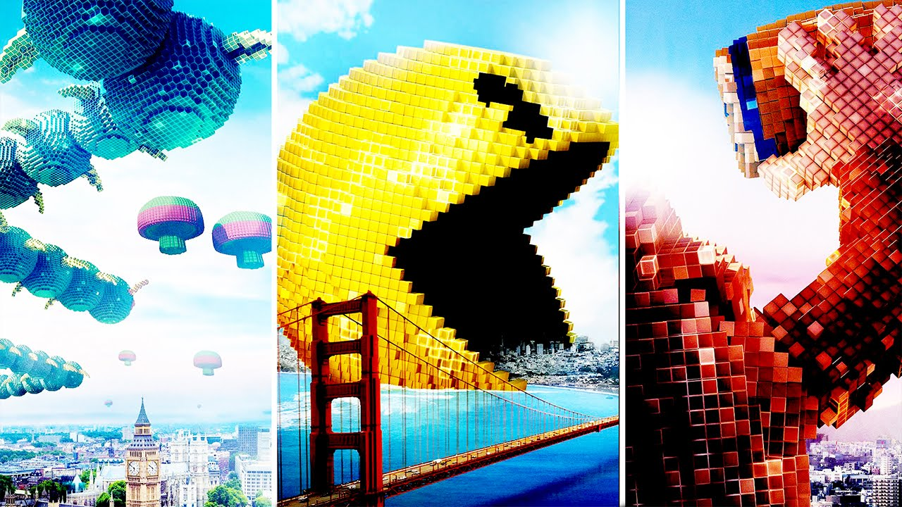 Pacman Wallpaper Iphone X Pixels Movie Trailer 2015 First Impressions Youtube