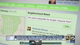 Neighbors help neighbors with Nextdoor app