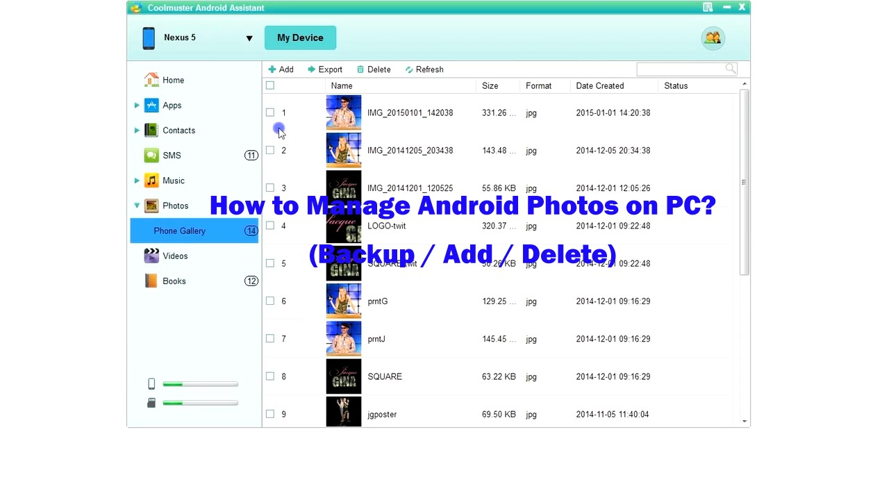 How to Backup Photos from Android Phone to Computer? Add & Delete Android Photos on PC. - YouTube