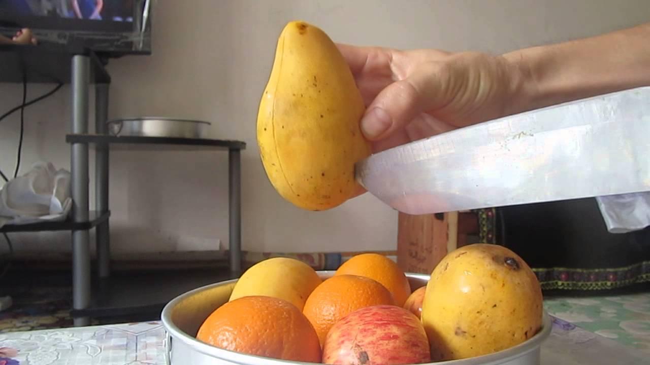 How To Cut A Mango (peel Like A Banana)