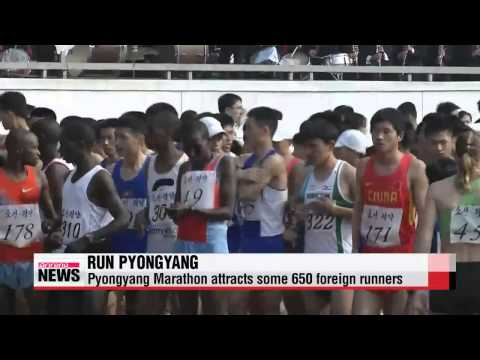 Number of foreign runners in Pyongyang Marathon rises by 200   평양 마라톤 외국인 참가 작년