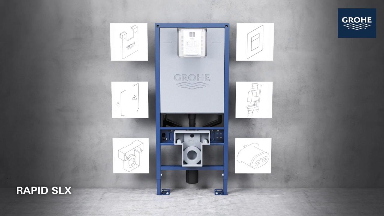 Chrome mod/èle le wc susa pied avec reservoir Grohe collection uniset Grohe En stock