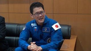 金井宇宙飛行士が国際宇宙ステーション長期滞在でのミッション報告に林大臣を訪問