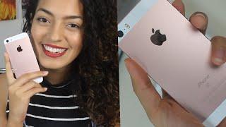 Iphone SE (Rose gold) - Abrindo a caixa - Review
