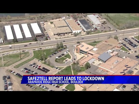 Arapahoe Ridge High School in Boulder County off lockdown after no weapon found