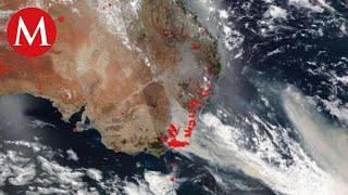 Así se ven los incendios en Australia desde el espacio