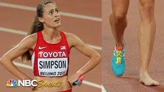Lost shoe derails Jenny Simpson's 1500m world title quest in 2015 | NBC Sports