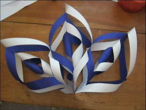 How to make a christmas star decoration - YouTube