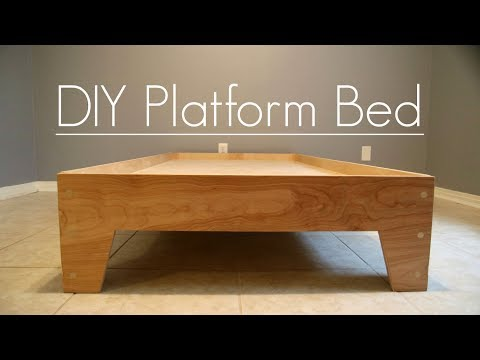 DIY Platform Bed - Stone and Sons (Plans Available)