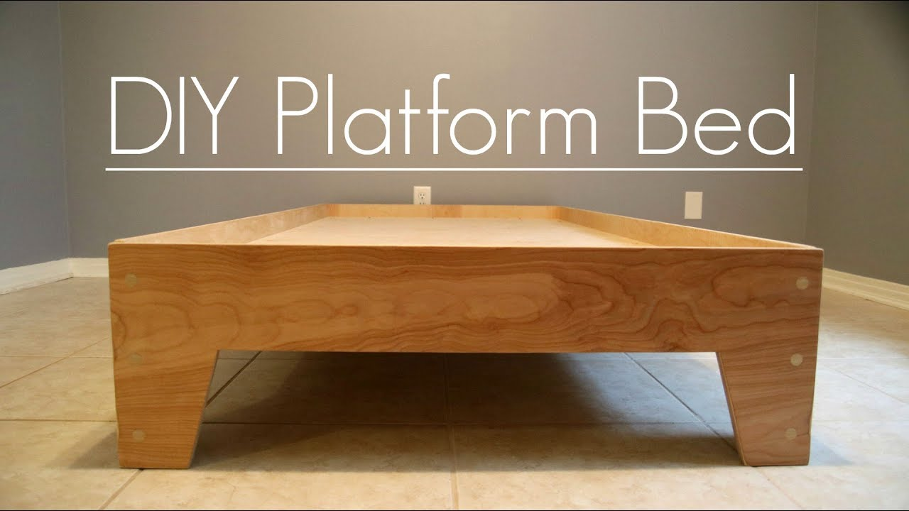 Diy Platform Bed Stone And Sons Plans Available Youtube
