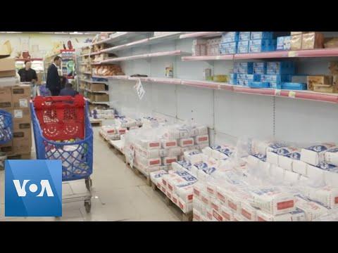 Shelves Emptied in Kosovo Supermarkets After COVID-19 Shutdown