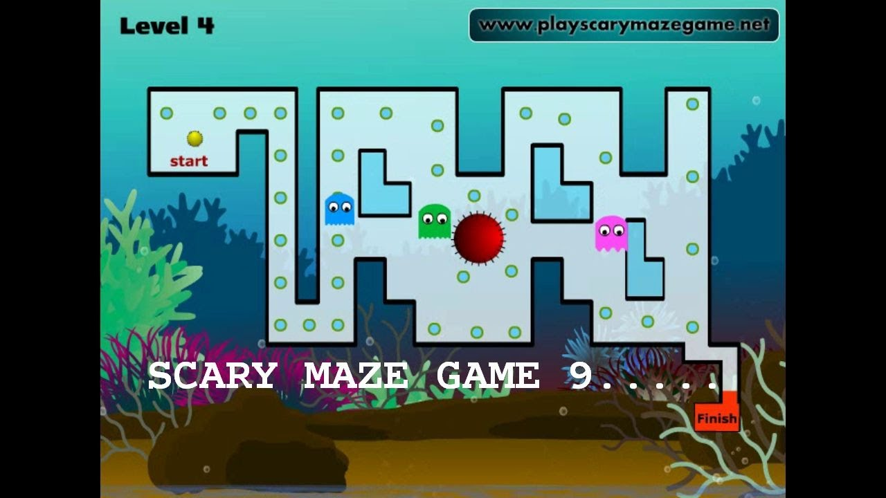 Scary Maze 9! Under The Sea!