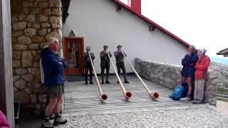 Dolomite Alphorn Concert at Tierser Alpl Alpine Refuge