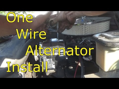 one wire alternator install - YouTube