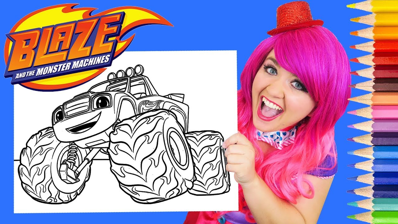 Coloring Blaze And The Monster Machines Coloring Page