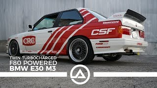 550 whp BMW E30 M3 with F80 Motor Swap | SEMA Build for Charity