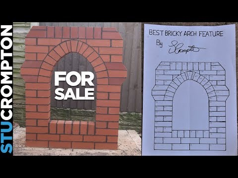 My brick arch feature for sale
