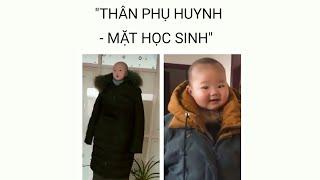 """[Tik tok app]  Trào lưu """"THÂN PHỤ HUYNH - MẶT HỌC SINH"""" siêu cute"""
