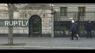 LIVE: Live outside Russian Embassy in Berlin after Germany expels 2 employees