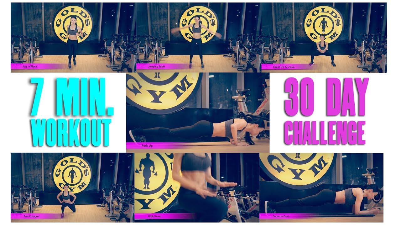 7 minute workout 30 day fitness challenge youtube. Black Bedroom Furniture Sets. Home Design Ideas