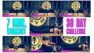 7 MINUTE WORKOUT: 30 DAY FITNESS CHALLENGE