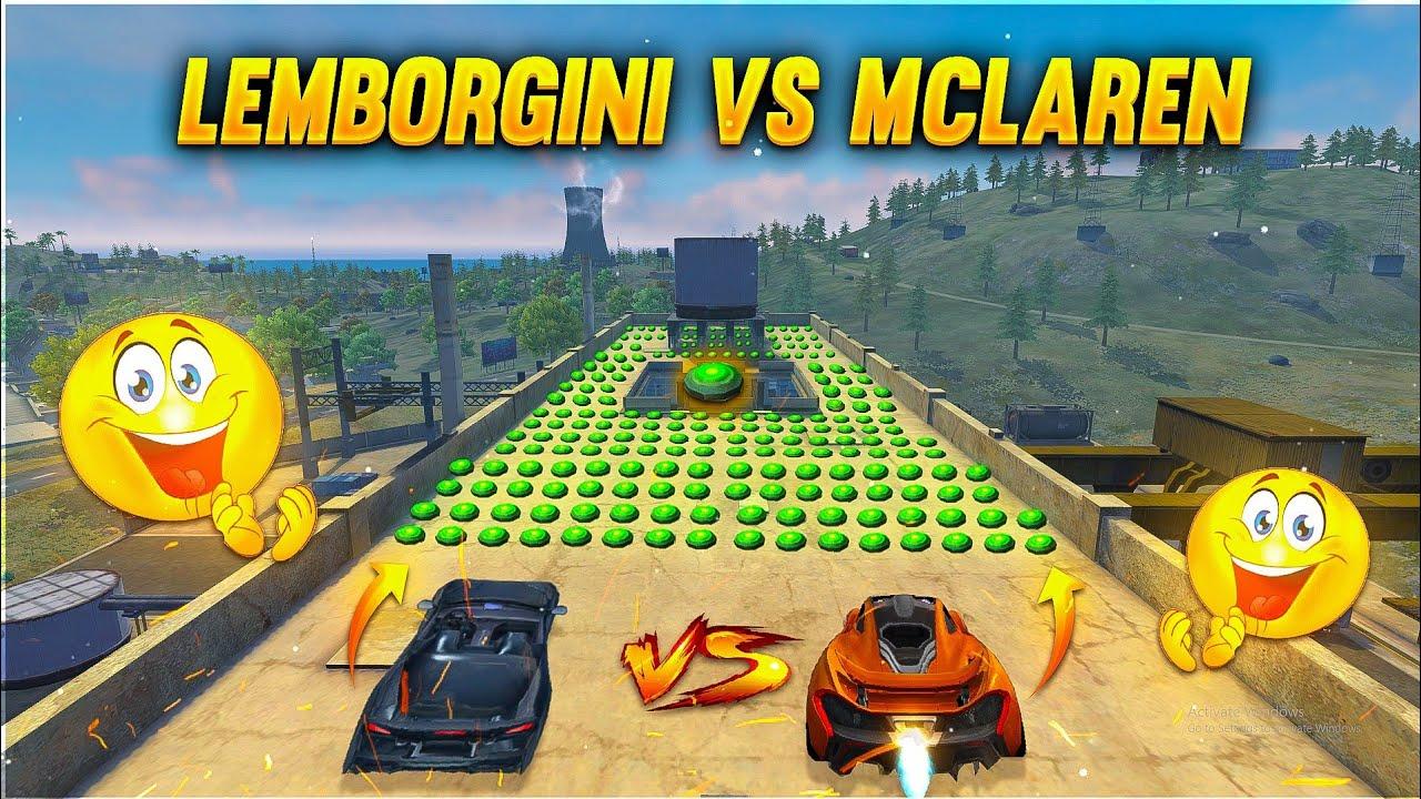 McLaren Speed Ability Test | New Car Vs Landmine | 2 Vs 999 Landmine Who Will Win?- Garena Free Fire
