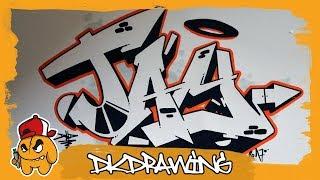 Graffiti Tutorial - How to draw graffiti names - Jay #34