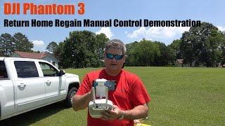 DJI Phantom 3 Return Home Manual Override Demonstration