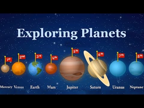 Planets In Our Solar System, Exploring Planets - Learning Videos For Kids