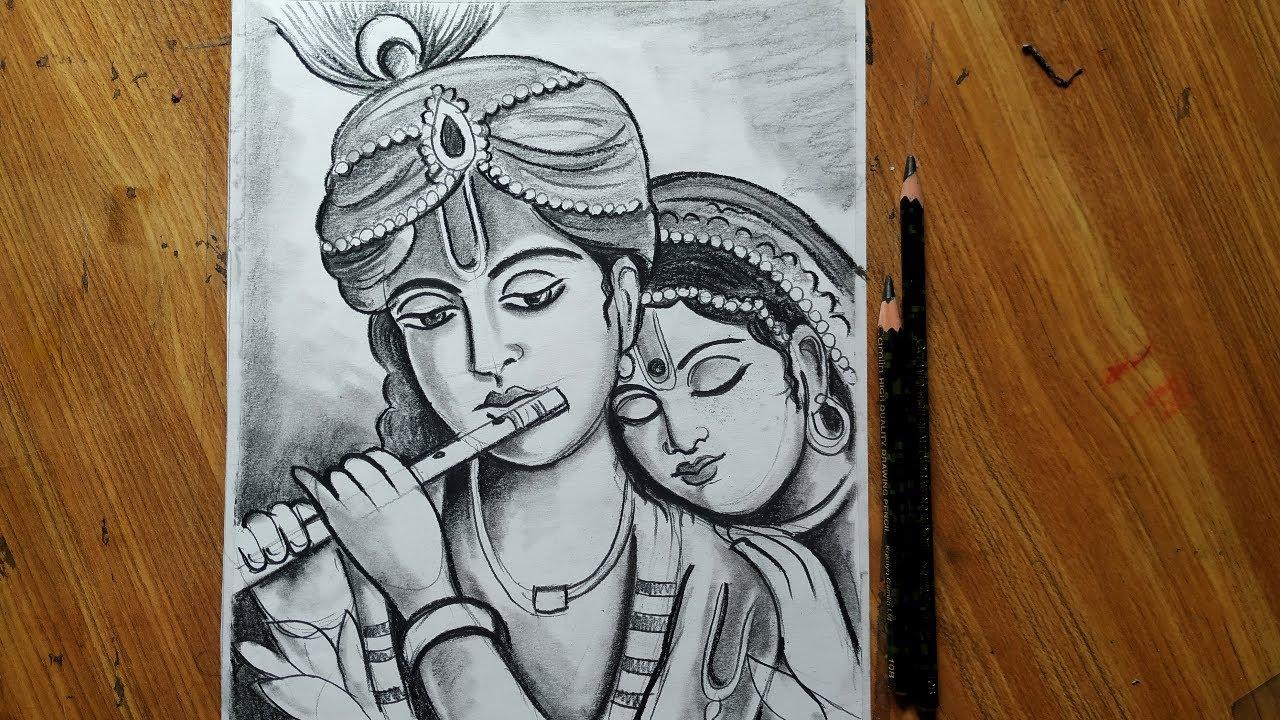 Dol Yatra Special Radha Krishna Drawing How To Draw Lord Radha Krishna How To Draw Face Youtube