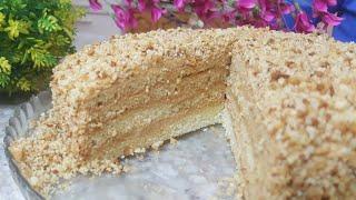 Самый Простой Рецепт / Медовый Торт  💯 Без Раскатки коржей  * УЗБЕЧКА ГОТОВИТ