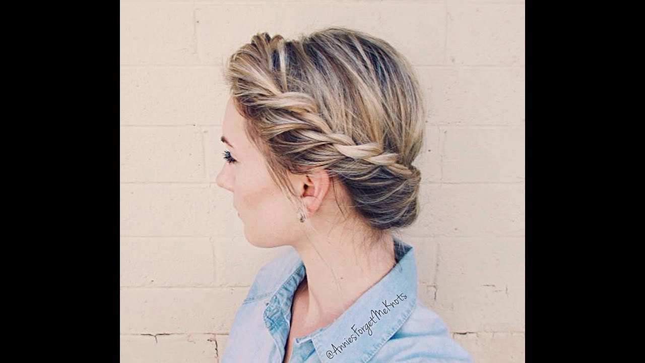 How to: Twist Crown Braid - YouTube