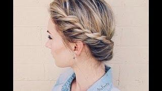 how to twist crown braid