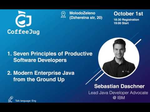 Modern Enterprise Java from the ground up by Sebastian Daschner | CoffeeJUG Meetup