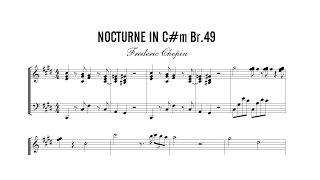Partitura: Frederic Chopin - Nocturne (Nocturna) in Cm Br. 49 | Clases de Produccion de Partituras