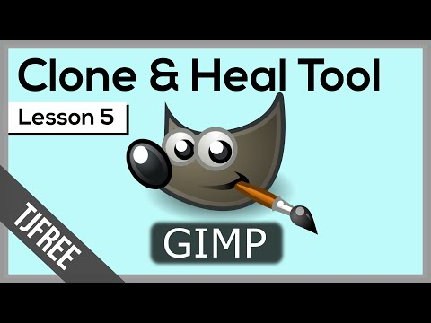 Gimp Lesson 5 | Using Clone and Heal