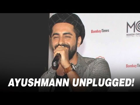 Check out Ayushmann Khurrana's live unplugged performance!