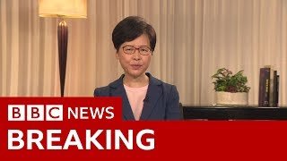 Hong Kong leader Carrie Lam to withdraw extradition bill- BBC News