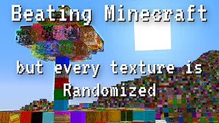 I Beat Minecraft with Randomized Textures.  It was Hard.