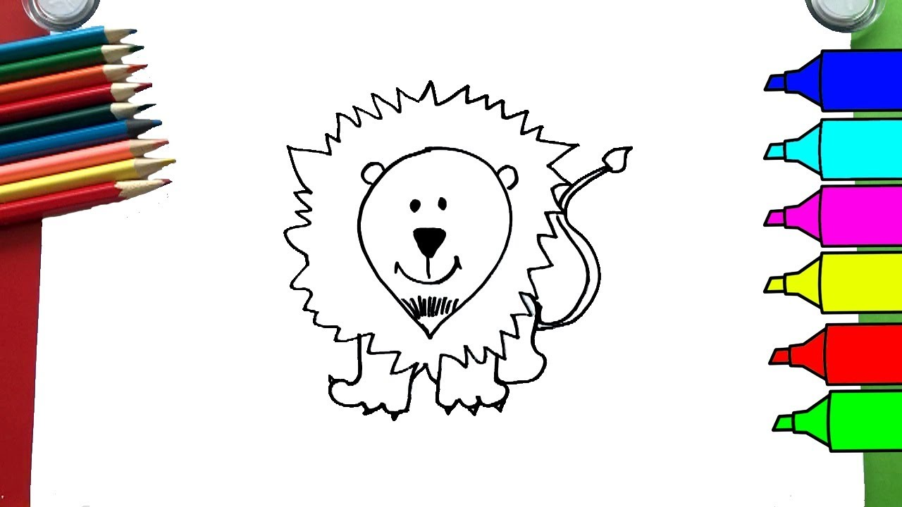 How To Draw Easy Lion | Coloring Pages - YouTube