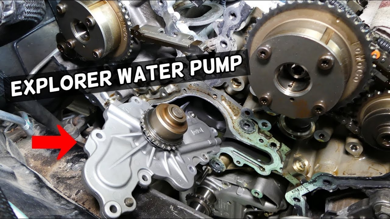 ford explorer 3 7 3 5 v6 water pump location replacement explained ford explorer 3 5 water pump replacement ford explorer water pump diagram [ 1280 x 720 Pixel ]