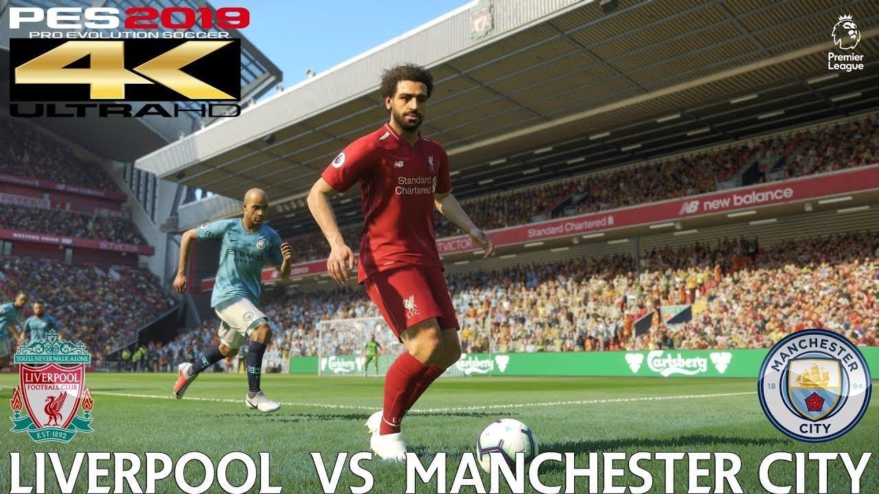 PES 2019 (PC) Liverpool vs Manchester City | PREMIER ...