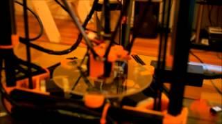 Mini Kossel 3D Printer - Auto-Calibration And Some Printing...