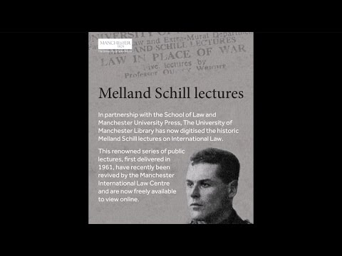 Digitised Melland Schill lectures launch event