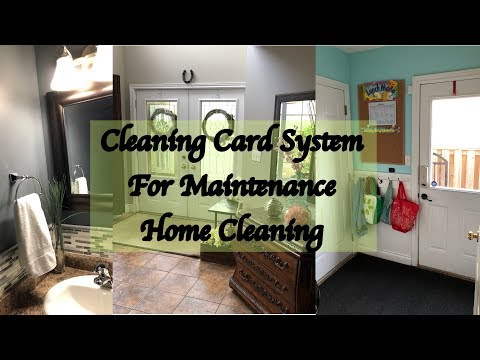 Cleaning Card System For Maintaining a Clean Home