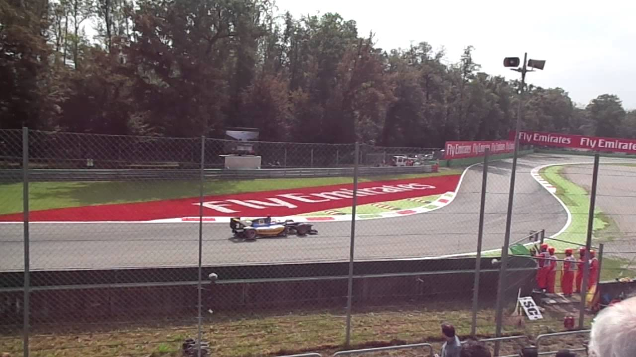 the view from grandstand 12 inside variante ascari at monza 2014 italian formula 1 grand prix youtube [ 1280 x 720 Pixel ]