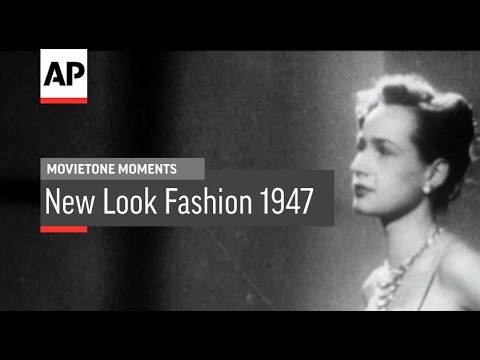 "Christian Dior's ""New Look"" Fashions | Movietone Moment | 12 Feb 16"
