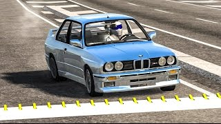 SPIKE STRIP HIGH SPEED CRASHES #17 - BeamNG Drive