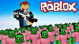 ¡ESTOY CREANDO UN MOSO DE ZOMBIES! Roblox